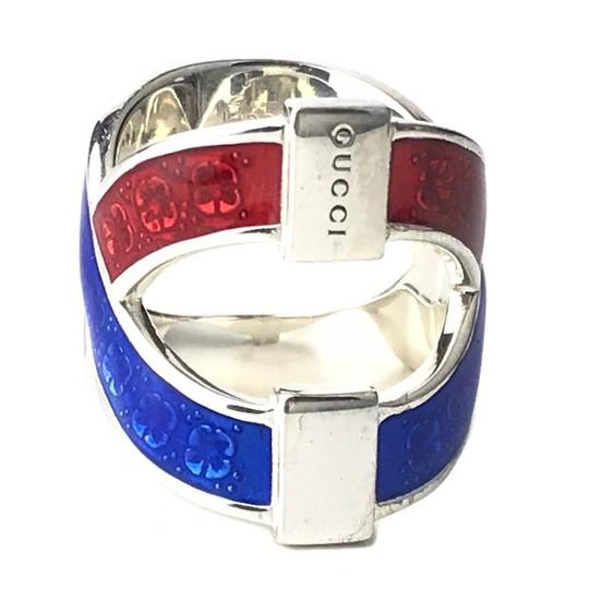 Gucci NEW GUCCI Garden Sterling Silver Enamel Ring, Sz. 5.25 US Image 2