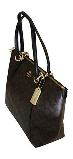 Coach Tote in Brown/Black Image 2