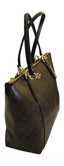 Coach Tote in Brown/Black Image 3