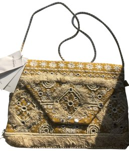 Antik Batik Yellow Clutch
