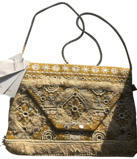 Preload https://img-static.tradesy.com/item/25767189/antik-batik-new-belly-strap-yellow-fabric-clutch-0-1-540-540.jpg