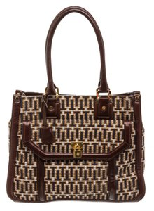 Tory Burch Multicolor Tote in 492228 Navy, Tan, White