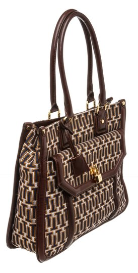 Tory Burch Multicolor Tote in 492228 Navy, Tan, White Image 1