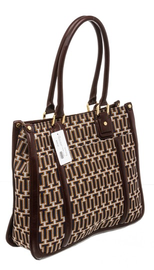 Tory Burch Multicolor Tote in 492228 Navy, Tan, White Image 2