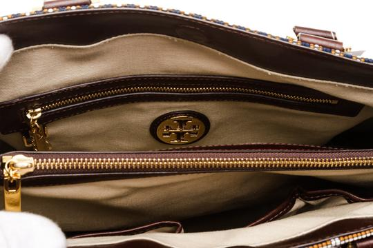 Tory Burch Multicolor Tote in 492228 Navy, Tan, White Image 4