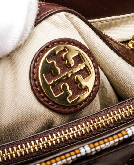 Tory Burch Multicolor Tote in 492228 Navy, Tan, White Image 5