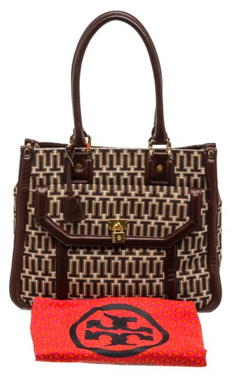 Tory Burch Multicolor Tote in 492228 Navy, Tan, White Image 7