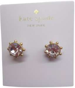 Kate Spade Kate Spade New Rhinestone/Gold Wagon Wheel Earrings