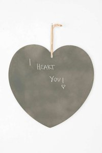 Urban Outfitters Silver Gigantic Chalkboard Heart Hanging Reception Decoration