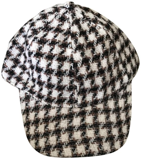 Item - Beige Multi Houndstooth Baseball Cap In A3798 Hat