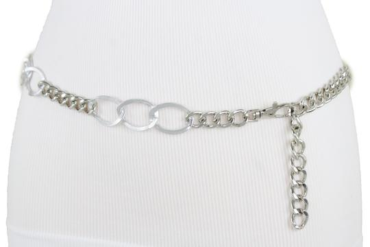 Alwaystyle4you Women Fashion Narrow Strap Belt Silver Color Metal Chain Link XS S M Image 9