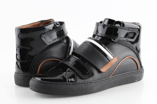 Bally Black Herick Leather High Top Sneakers Shoes Image 1