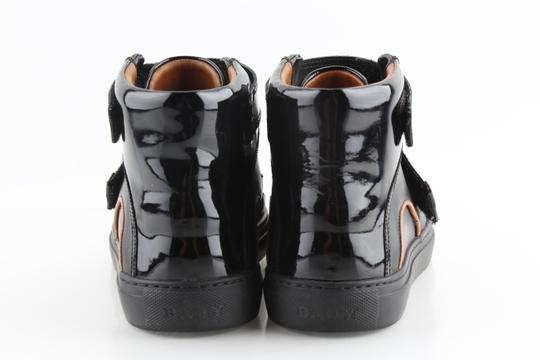 Bally Black Herick Leather High Top Sneakers Shoes Image 3