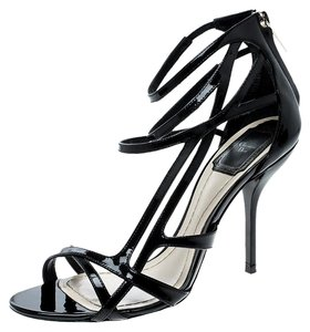 Dior Patent Leather Strappy Black Sandals