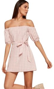 Reformation short dress pink on Tradesy