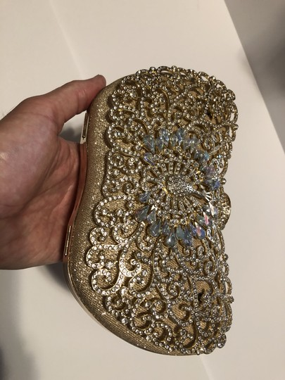 Good and Rhinestone and Ab Evening Clutch Bridal Handbag Image 4