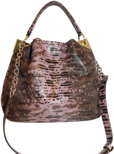 Henri Bendel Reptile Leather Chain Cross Body Bag Image 0