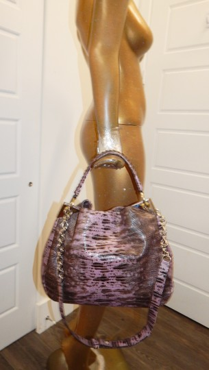 Henri Bendel Reptile Leather Chain Cross Body Bag Image 1