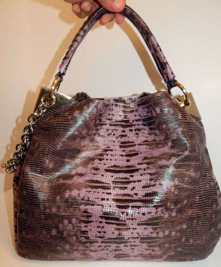 Henri Bendel Reptile Leather Chain Cross Body Bag Image 10