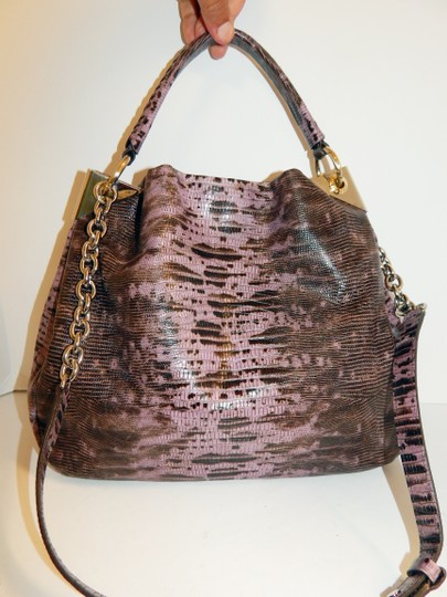 Henri Bendel Reptile Leather Chain Cross Body Bag Image 11