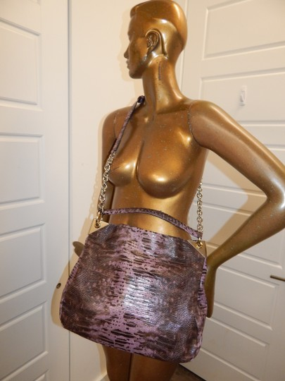Henri Bendel Reptile Leather Chain Cross Body Bag Image 2
