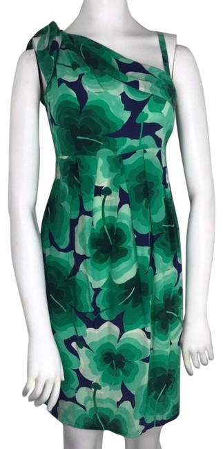 Preload https://img-static.tradesy.com/item/25767681/love-moschino-green-and-blue-floral-clover-silk-short-night-out-dress-size-4-s-0-2-650-650.jpg