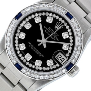 Rolex Midsize Datejust Stainless Steel with String Diamond Dial Watch