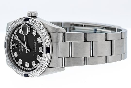 Rolex Midsize Datejust Stainless Steel with String Diamond Dial Watch Image 3