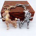 Other Adorable Champagne Crystal Poodle with Crown Key Ring/ Purse Charm Image 5