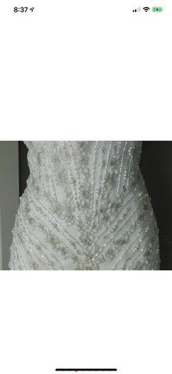 Maggie Sottero Ivory Beaded Sexy Wedding Dress Size 12 (L) Image 2