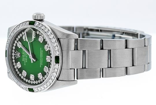 Rolex Midsize Datejust Stainless Steel with String Diamond Dial Watch Image 7
