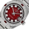 Rolex Midsize Datejust Stainless Steel with String Diamond Dial Watch Image 0