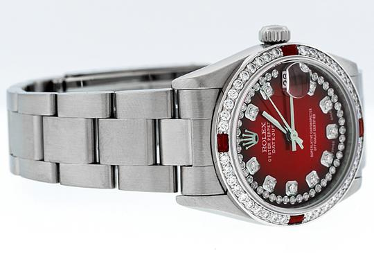 Rolex Midsize Datejust Stainless Steel with String Diamond Dial Watch Image 4