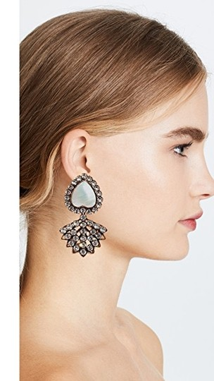 Tory Burch TORY BURCH CRYSTAL MOTHER-OF-PEARL HEART EARRING Image 7