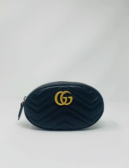 Gucci Gg Marmont Black Messenger Bag Image 1