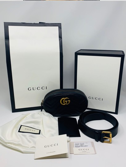 Gucci Gg Marmont Black Messenger Bag Image 4