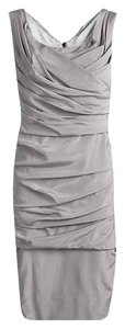 Dolce&Gabbana short dress Grey Silk Sleeveless on Tradesy