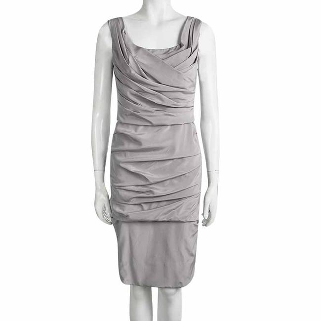Dolce&Gabbana short dress Grey Silk Sleeveless on Tradesy Image 1