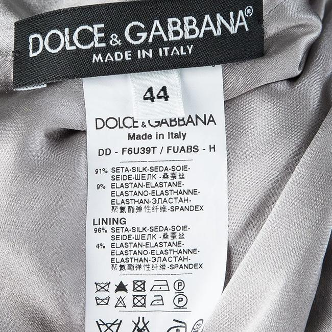 Dolce&Gabbana short dress Grey Silk Sleeveless on Tradesy Image 4