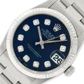 Rolex Midsize Datejust Stainless Steel with Diamond Dial Watch Image 0