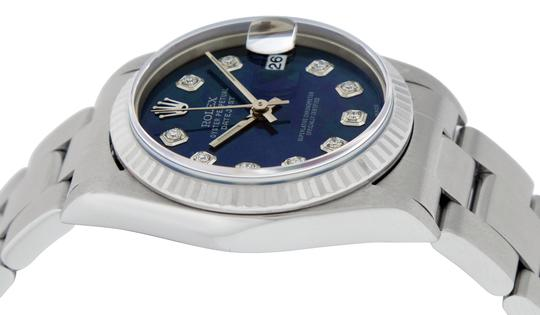Rolex Midsize Datejust Stainless Steel with Diamond Dial Watch Image 5