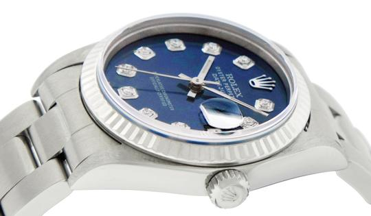 Rolex Midsize Datejust Stainless Steel with Diamond Dial Watch Image 6