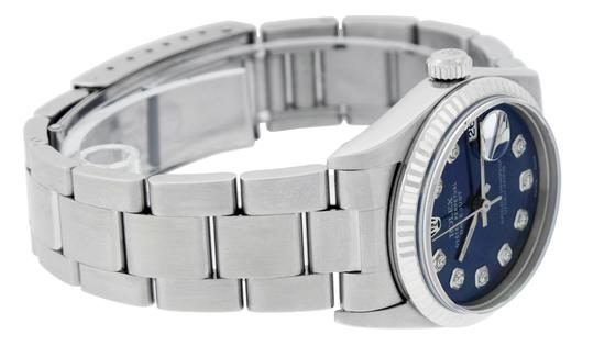 Rolex Midsize Datejust Stainless Steel with Diamond Dial Watch Image 8