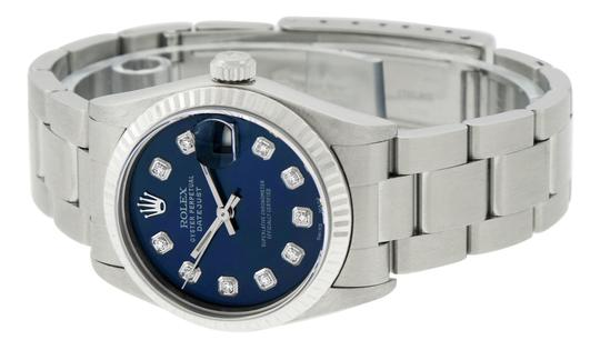 Rolex Midsize Datejust Stainless Steel with Diamond Dial Watch Image 9