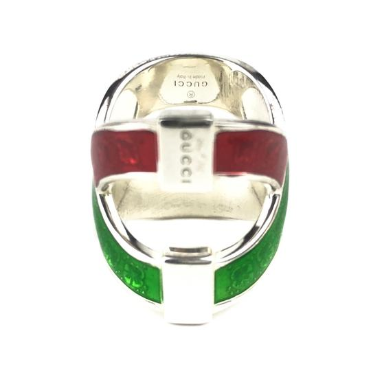 Gucci NEW GUCCI Garden Sterling Silver and Enamel Ring Sz. 4.5 US Image 3