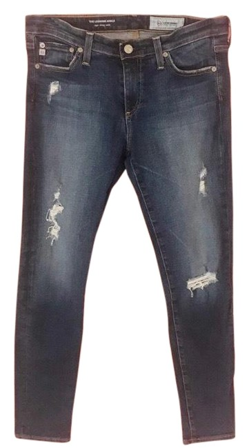 Preload https://img-static.tradesy.com/item/25767947/ag-adriano-goldschmied-blue-distressed-super-skinny-jeans-size-6-s-28-0-1-650-650.jpg