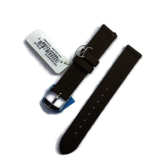 Michele Michele 18mm Brown Silicon Watch Band Image 1