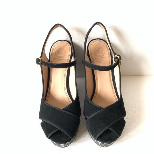 Tory Burch Black Wedges Image 3