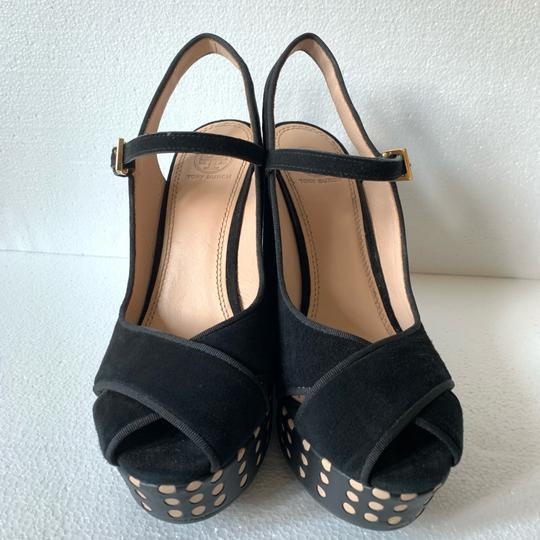 Tory Burch Black Wedges Image 6