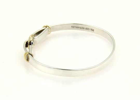 Tiffany & Co. Sterling Silver 18k Yellow Gold Double Loop Hook Bangle Image 2